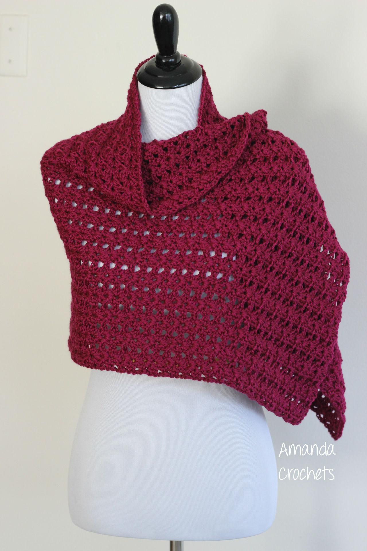 iris shawl pattern amanda crochets. Black Bedroom Furniture Sets. Home Design Ideas
