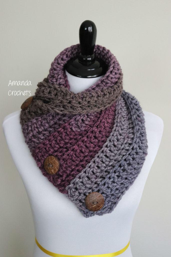 3 Button Cowl Pattern Amanda Crochets